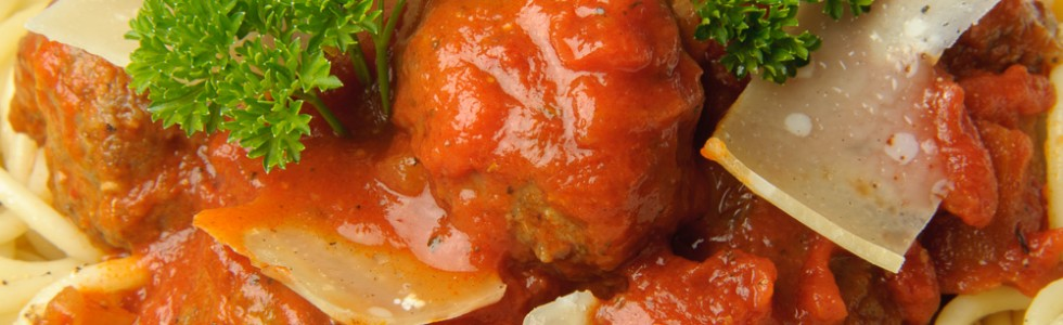 Try our Meat Balls in a Spicy Tomato Sauce