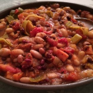 Bean and Pepper Chilli